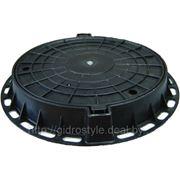 Пластиковый канализационный люк (черный)