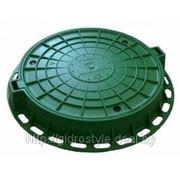 Пластиковый канализационный люк (зеленый) фото