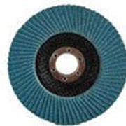 Круг шлифовальный Зубр лепестковый торцевой, тип КЛТ 1, зерно - электрокорунд циркониевый, P60, 115х22,2мм Код: 36595-115-60 фото