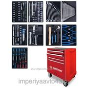 Набор инструментов в красной тележке, 161 предмет KING TONY 932A-005MR фото