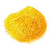 Сизалевое волокно 250 гр желтый фото