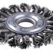 Щетка Зубр Эксперт дисковая для УШМ, плетеные пучки стальной проволоки 0,5мм, 175мм/22мм Код:35190-175_z01 фото