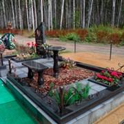 Благоустройство могил и мест захоронений на кладбищах фото