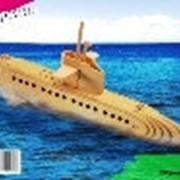 """Модель деревянная сборная, Водный транспорт, """"Субмарина"""" фото"""
