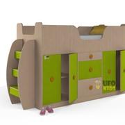Кровать детская со шкафами мини фото
