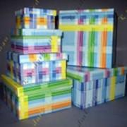 Набор коробок с рисунком фото