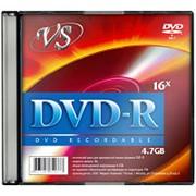 Диск DVD-R VS 4,7GB, 16x, slim/5шт, записываемый фото