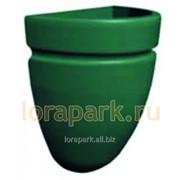 Термо-чаша корзина 450, вазон для цветов уличный пластиковый фото