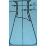 Колба коническая кварцевая Кн-1600 мл из прозрачного кварцевого стекла фото