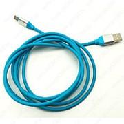 USB Кабель Type-C 2м (синий) фото