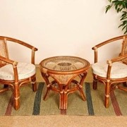 Комплект плетеной мебели Дуэт фото