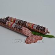 Колбаса сырокопченая салями Коньячная высший сорт фото