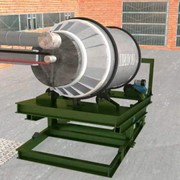 Печь вращающаяся для плавки алюминия и шлаков, барабанная ПВ-05 фото