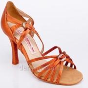 Galex Обувь женская для латины Ирина-Н, кедр сатин фото