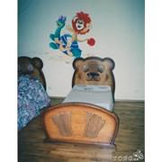 """Кровать деревянная детская """"Мишутка"""" фото"""