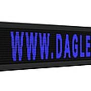 Бегущая строка LED 3 28 х 0 4 м синий фото
