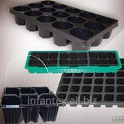Кассета для рассады 35 ячеек(черн), размер 530*310 фото