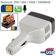 Скрытый GPS треккер с функцией GSM прослушки – авто USB адаптер фото