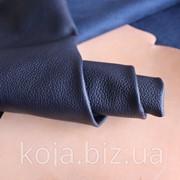 Натуральная кожа для обуви и кожгалантереи синяя арт. СК 1159 фото