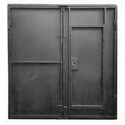 Ворота въездные, металлические. фото