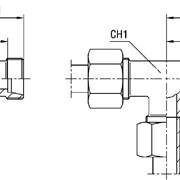 Соединение тройниковое XT серия L 160 бар Ø трубы 28 фото