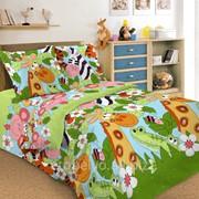 Комплект постельного белья 1,5 СПАЛЬНЫЙ ПЕРКАЛЬ 50 Х 70 Джунгли фото
