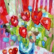 Картина на холсте Цветы Flowers фото