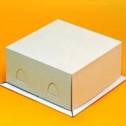 Упаковка-коробки для торта, от 0,5кг до 3кг Хром эрзац фото
