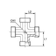 Соединение проходное крестовое Тип: 1040…1 корпус фото