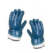 Перчатки нитрильные с твердым манжетом NBR 4530 фото