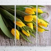Модульна картина на полотні Жовті тюльпани код КМ100150-137 фото