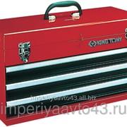 Ящик инструментальный, 3 ящика и отсек, красный KING TONY 87401-3 фото
