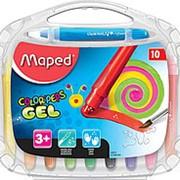 Мелки гелевые 10 цветов Maped COLOR PEPS, пластик. футляр фото