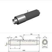 Элемент трубопровода с кабелем вывода стальной в полиэтиленовой трубе-оболочке с металлической заглушкой изоляции d=325 мм, s=7 мм, L=210 мм фото