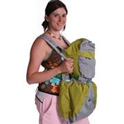 Рюкзак-кенгуру BabyActive серо-зеленый фото