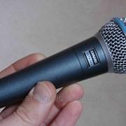 Микрофон Shure Beta 58A + USB - XLR шнур для подключения к ПК фото