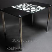 Стол стеклянный Долматинец -обеденные столы фото