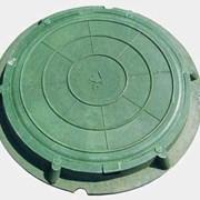 Люк полимерно-песчаный канализационный, 1.5тн фото