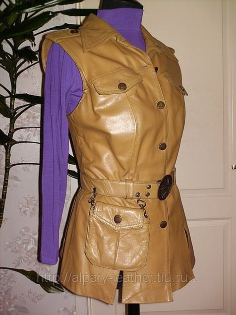 Как сделать из кожаной куртки жилетку
