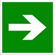 Эвакуационный знак, код E 02-01 Направляющая стрелка фото