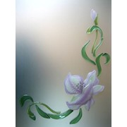 Цветы - витраж мебельный фото