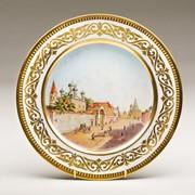 Декоративная тарелка 'Вид церкви Гребневской Богоматери и Владимирских ворот Китай-города' фото