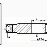 Круги алмазные шлифовальные профильные для обработки кромки стекла на металлической связке формы 14LL1H-90 (фаска 45°) фото