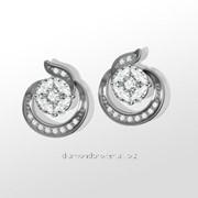Серьги с бриллиантами E30125-3