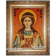Христина (Кристина) Мученица - Икона Из Янтаря, Ручная Работа Код товара: Оар-27 фото
