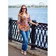 Блузка 825 Бежевый цвет фото