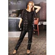 Блуза 1588 Чёрный цвет фото