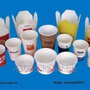 Одноразовые бумажные чашки фото