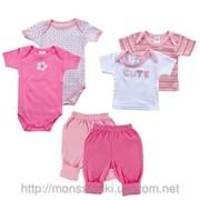Набор для новорожденной девочки6 предметов фото