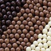 Украшение шоколадное ШАРИКИ КРАНЧ ТЕМНЫЕ (короб 2 кг.) 71129. фото